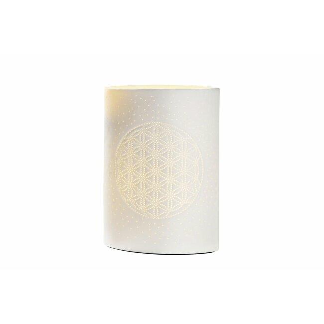 Keramik Prickellampe Lebensblume, ca. 26 cm