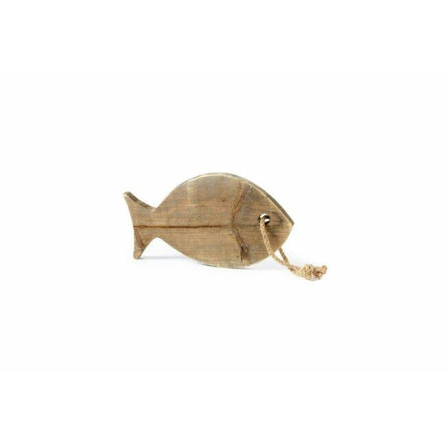 Fisch Holz zum Hängen, braun - natürlich, ca. 30 x 17 cm