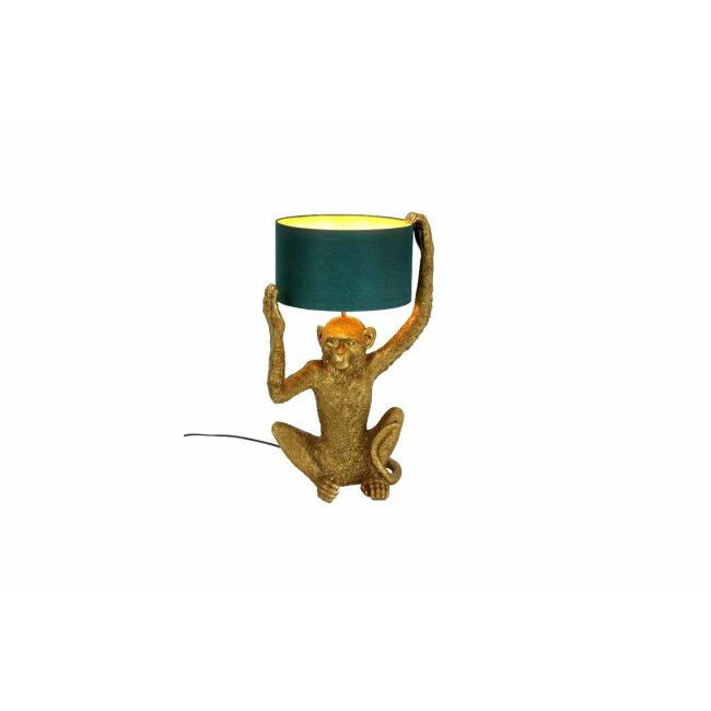 Tischleuchte Chimpy, gold/ petrol, ca. 35,5 x 30,5 x 57 cm