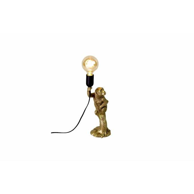 Tischleuchte Äffchen, gold, ca. 12 x 10,5 x 33,5 cm