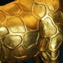 Giraffen-Tischleuchte Lucie, schwarz/ gold, ca. 35 x 28 x 70 cm