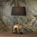 Tischleuchte Elefant, gold/ schwarz, ca. 35 x 18,5 x 63,5 cm