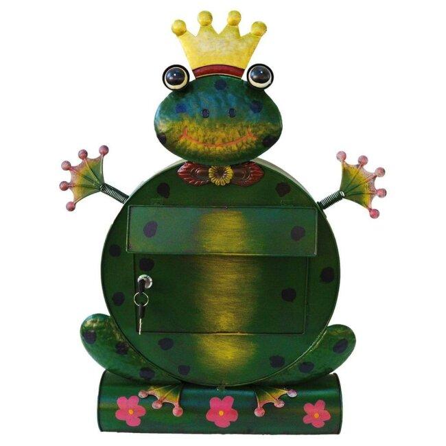 """Briefkasten Frosch """"Freddy"""", ca. 53 x 18 x 68 cm"""