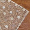 Tischläufer durchsichtig Fadenmuster beige 40 X 150 CM