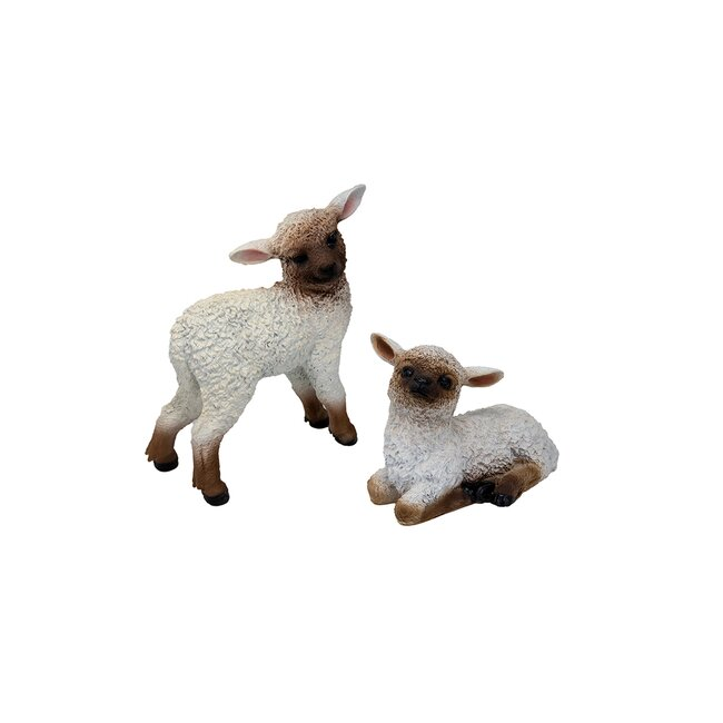 Schaf, liegend oder stehend, ca. 30 cm lang