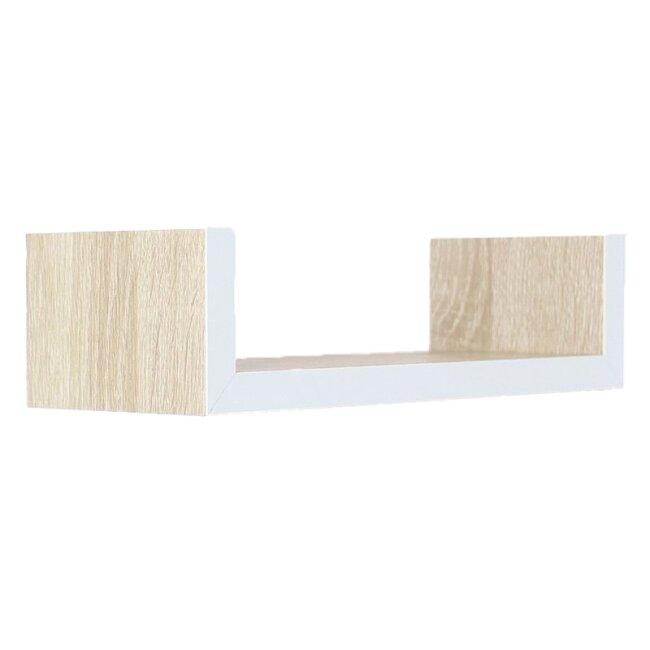 Wandregal Holz Weiß  im 3er Set