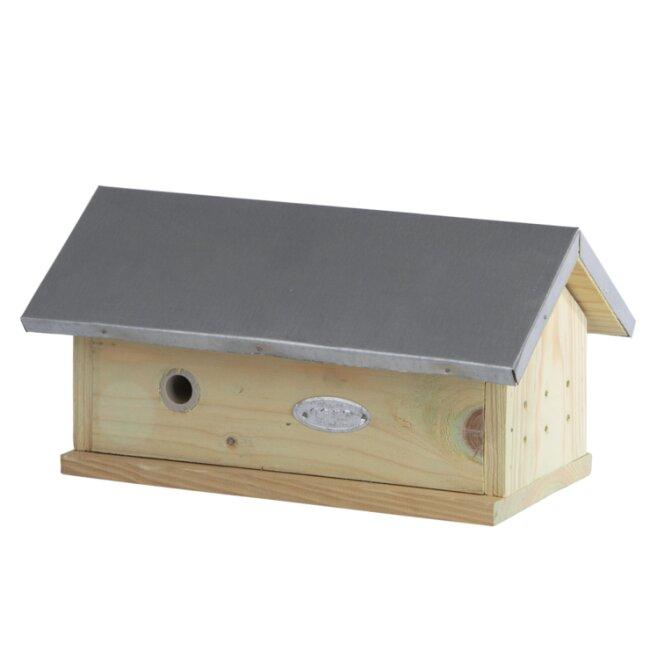 Hummelhaus mit aufklappbaren Dach aus Holz