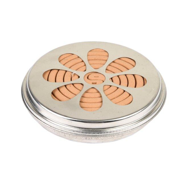Citronella 10 Spiralen mit Zinkhalter